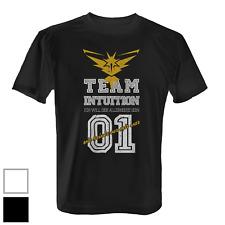 Team Intuition Herren T-Shirt Fun Shirt Poke Go Game Instinct Gelb Vintage Stil