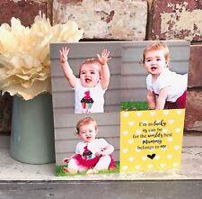 Personalised Chunky Wood Mothers Day Mum Mummy Grandma Nanny Nana Photoblock