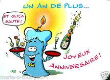 CARTE postale d'anniversaire JOYEUX ANNIVERSAIRE et qu'ca SAUTE ! humour fête