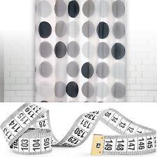 taillé sur mesure Peva Rideau de douche - Transparent ou motif jusqu'à 300