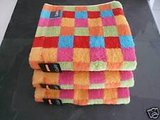 CAWÖ Lifestyle  3 Handtücher Multicolor Cubes, Karos, kariert, NEU!