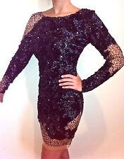 NEW JOVANI 9448 Black Short Cocktail Dress Prom Formal Homecoming Size  4