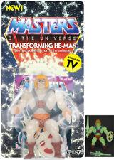 Transforming He Man Glow in the Dark Neo Vintage SUPER 7 MOTU Masters Universe