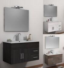 Móvil para cuarto de baño da 100cm y blanca esencias madera con lavado cerámica