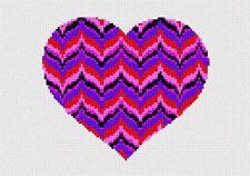 Heart Bargello Needlepoint Kit or Canvas (Valentine)