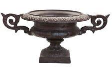 Amphore 38cm Pflanzkübel Blumentopf Blumenkübel Eisen Antik-Stil braun