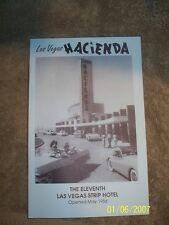 Hacienda The Eleventh Strip Hotel Information Pamphlet Las Vegas Nevada