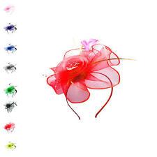 Women Ladies Plastic & Feather Fascinator Wedding Races Occasion Headband