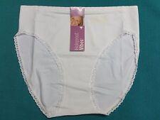 2 Womens ladies Holeproof White Briefs Underwear S M L Nylon Elastane