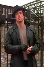Rocky Balboa Sylvester Stallone Black Leather Jacket Coat