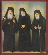 Orthodox Icon Monks New of the Century, Iakovos, Paisios, Porfirios 15x19cm
