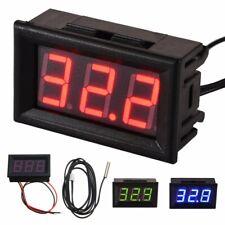 DC12V Thermometer LED digital Temperatur Anzeige mit Sensor Sonde -50° bis +110°