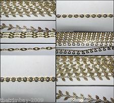1 METRO Diamante / Rhinestone Designer Crystal Catena Oro-gratis UK POST