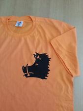 Jagd T-Shirt Drückjagd orange mit Keiler  Größe S - 4XL 100% Baumwolle