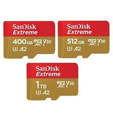 SanDisk Extreme 64GB 128GB 256GB 400GB 512GB 1TB microSDXC TF Card w/o Adapter