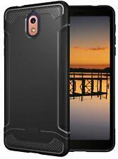 For Nokia 3.1, TUDIA LINN Lightweight Carbon Fiber TPU Cover Case