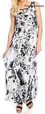 NEW - One World Micro Jersey Sleeveless Cut-out Blouson Maxi Dress - Sz. S, L