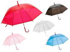 Stockschirm Stock transparent Regenschirm City Schirm Langschirm mit Griff