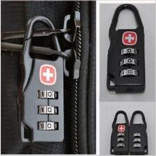 1 2 4 piezas de 3 dígitos combinación candado equipaje negro número de Viaje Bloqueo de Código Reino Unido