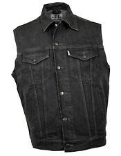Western Speicher Jeansweste Grau Kutte Weste Baumwolle S bis 4XL
