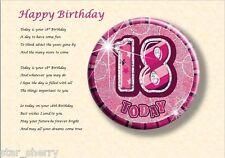 18th BIRTHDAY - Laminated Gift
