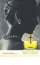 PUBLICITE ADVERTISING 1995  BULGARI l'essence d'un grand joaillier parfum