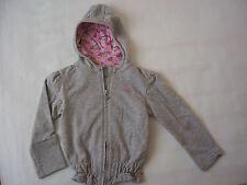 Adidas fille Sweat Zippé à Capuche taille 6 ou 10 ans coloris gris chiné moyen