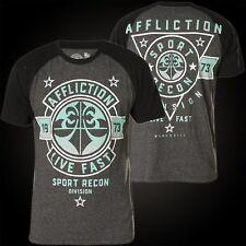 Affliction T-Shirt Never Surrender Grau/Schwarz