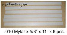 Mylar Reeds for Duck Goose Turkey Deer Calls .010 x 5/8