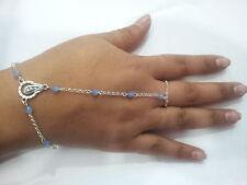 baciamano gioiello rosario corona pl argento bracelet cristalli opaco bracciale