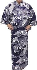 Japanese Kimono Men's Casual Cotton Yukata Robe Carp #863 Samurai Gown Novelty