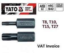 "Yato profesional torx Bits Largo: 25mm (1"") T8 T10 T15 T27 YT-7813-20"