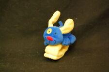 "Carters Kids II Yellow Wrist Blue Dog Rattle Stuffed Animal Lovey Toy 6"" Plush"