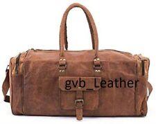 Fresh Leather Genuine Travel Bag Duffel Men Vintage Luggage Overnight Weekend