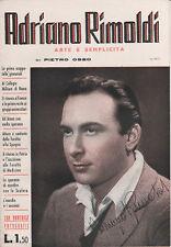 CINEMA P.OSSO MONOGRAFIA DI ADRIANO RIMOLDI 1942 ALBORE