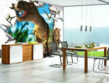 3D Dinosaure Monde. Photo Papier Peint en Autocollant Murale Plafond Chambre Art