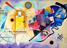 Póster Amarillo, rojo y azul - Wassily Kandinsky