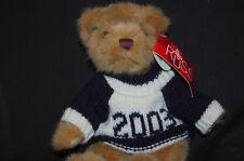 "RUSS VARSITY TAN BEAR 2003 BLUE WHITE SWEATER NWT 7"" Plush Stuffed Animal Lovey"
