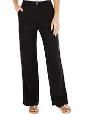 BNWT M&S Black Wide Leg Linen Blend Casual Trousers