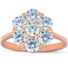 2 Ct Diamond EX3 Lab Grown 14k Rose Gold Engagement Ring