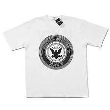 US Soffe United States Navy USN Logo Tee White PT Training T-shirt 100% Cotton