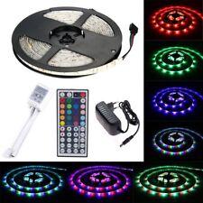 5M LED 3528 RGB Streifen Strip Band Leiste Lichtleiste Controller Trafo Netzteil