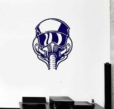 Vinyl Decal Pilot Helmet Air Force Children's Кoom Wall Stickers Mural (ig2144)