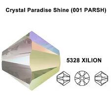 CRYSTAL PARADISE SHINE 001 PARSH Genuine Swarovski 5328 Bicone Beads *All Sizes