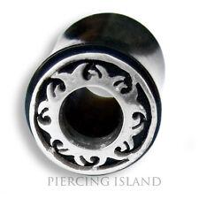 8mm - 18mm HORN SILBER Flesh Tunnel Ear Plug Ohr Piercing 068