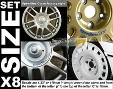rueda pegatina Ajuste SPEEDLINE CORSE 100/12 / 14PCD Unidad 8 Centro Adhesivo