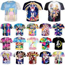 Japan Anime Women Men Sailor Moon Print Casual 3D T-Shirt Short Sleeve Tops Tee