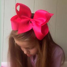 6 INCH GIRLS EXTRA LARGE HAIR BOW HAIR CLIP PIN ALIGATOR CLIPS GROSGRAIN RIBBON