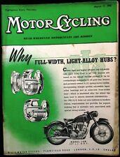 MOTOR CYCLING MAGAZINE MAR 17 1955 - AJS - MODEL 16M 347 CC OHV