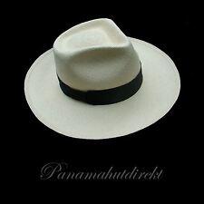 "Genuine Panama Hat Montecristi ""Diamante""  -  15 weaves  Men Woman Straw Fedora"